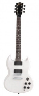 GIBSON SGJ RUBBED WHITE - электрогитара