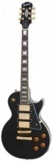 EPIPHONE LP BLACK BEAUTY EBONY GLD - электрогитара