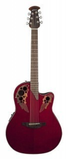 OVATION CE44-RR Celebrity Elite Mid Cutaway Ruby Red - электроакустическая гитара