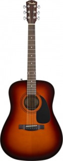 FENDER CD-60CE DREADNOUGHT BROWN SUNBURST W/FISHMAN® MINIQ PREAMP - электроакустическая гитара