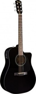 FENDER CD-60CE DREADNOUGHT BLACK W/FISHMAN® MINIQ PREAMP - гитара электро-акустическая