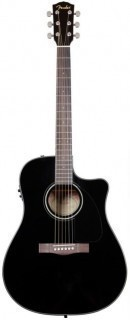FENDER DG-60CE DREADNOUGHT BLACK W/FISHMAN® MINIQ PREAMP гитара электро-акустическая
