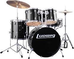 LUDWIG LC175 Accent CS Combo series - Ударная установка, цвет черный