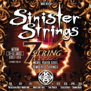 KERLY KQXS7-1056 Sinister 7 Strings Nickel Plated Steel Tempered струны для 7-струнной электрогитары