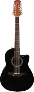 APPLAUSE AB2412-5 Balladeer Mid Cutaway Black - 12-струнная электроакустическая гитара