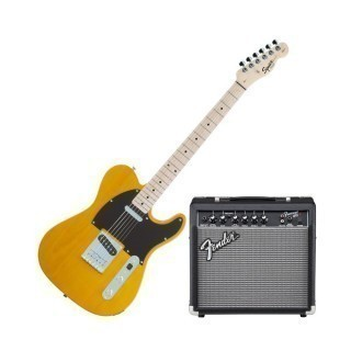 FENDER SQUIER AFFINITY TELE®&FRONTMAN 15G - BUTTERSCOTCH BLONDE набор: электрогитара