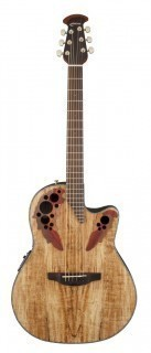OVATION CE44P-SM Celebrity Elite Plus Mid Cutaway Natural Spalted Maple - электроакустическая гитара