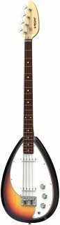VOX V-MK3-B-3U MARK III TEARDROP BASS 3-TONE SUNBURST - басгитара с чехлом